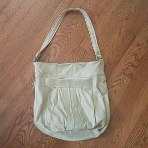Leather relaxed hobo  bag